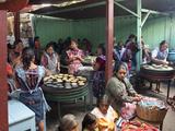 Preparing Lunch, Chichicastenango Market, Chichicastenango, Guatemala, Central America Photographic Print by Antonio Busiello