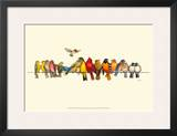 Bird Menagerie I Prints by Wendy Russell