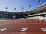 The Start Line of the 100M Inside the Olympic Stadium, London, England, United Kingdom, Europe Photographic Print by Mark Chivers