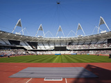 Inside the Olympic Stadium During the Gold Challenge Event, London, England, United Kingdom, Europe Photographic Print by Mark Chivers