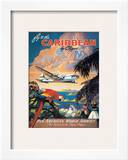 Pan American: Fly to the Caribbean by Clipper, c.1940s Poster by M. Von Arenburg