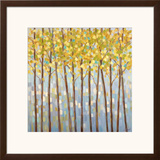 Glistening Tree Tops Poster by Libby Smart