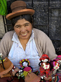 Indigenous Lady Selling Dolls, Arequipa, Peru, South America Photographic Print by Simon Montgomery