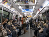 Tokyo Metro Spacious Carriages When Not Packed in Rush Hours, Tokyo, Japan, Asia Photographic Print by Walter Rawlings