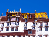 Windows and Roof of the Potala Palace from Below, UNESCO World Heritage Site, Lhasa, Tibet, China Photographic Print by Nancy Brown