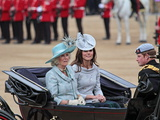 Duchesses of Cornwall and Cambridge and Prince Harry, Trooping Colour 2012, London, England Fotografisk tryk af Hans-Peter Merten