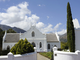 Dutch Reformed Church Dating from 1841, Franschhoek, the Wine Route, Cape Province, South Africa Photographic Print by Peter Groenendijk