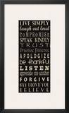 Live Simply Posters