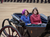 Princesses Beatrice and Eugenie of York, Trooping Colour 2012, Quuen&#39;s Bday Parade, London, England Photographic Print by Hans-Peter Merten