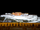 The Potala Palace, UNESCO World Heritage Site, at Night, Lhasa, Tibet, China, Asia Photographic Print by Nancy Brown