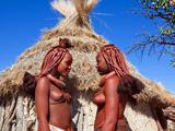 Himba Girls, Kaokoveld, Namibia, Africa Photographic Print by Nico Tondini