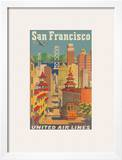 United Airlines San Francisco c.1950 Prints by Joseph Feher
