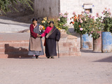 Tibetan Pilgrim Women in Plkhor Chode Monastery, Gyantse, Tibet, China, Asia Photographic Print by Nancy Brown