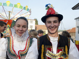 Woman and Man Wearing Zdanice Folk Dress, Village of Zdanice, Brnensko, Czech Republic Photographic Print by Richard Nebesky