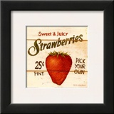 Sweet and Juicy Strawberries Art by David Carter Brown