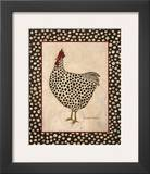 Spotted Chicken Prints by Warren Kimble