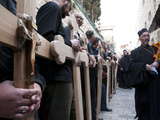 Good Friday Processions Along Way of Cross (Via Dolorosa) in Old City in 2011, Jerusalem, Israel Photographic Print by Eitan Simanor