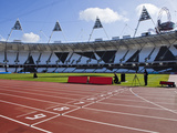 The Finishing Line of the Athletics Track Inside the Olympic Stadium, London, England, UK Photographic Print by Mark Chivers