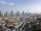 Elevated View of New Dubai Skyline of Modern Architecture, Dubai, United Arab Emirates Photographic Print by Gavin Hellier