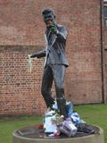Sculpture of Singer Songwriter Billy Fury, Liverpool, Merseyside, England, United Kingdom, Europe Fotografisk tryk af Wendy Connett