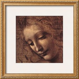Testa di Faniciulla Detta (detail) Art by  Leonardo da Vinci