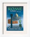 Pan American: Rome by Clipper - Vatican and Coliseum, c.1951 Print
