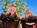 Hairstyle of Himba Women, Kaokoveld, Namibia, Africa Photographic Print by Nico Tondini