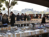 Used Book Market under Waterloo Bridge, South Bank, London, England, United Kingdom, Europe Photographic Print by Stuart Black