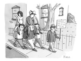 Double-Decker Walking Tours. - New Yorker Cartoon Premium Giclee Print by Zachary Kanin