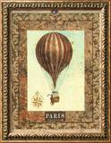 Vintage Hot Air Balloon I Framed Giclee Print by Miles Graff