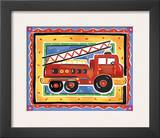Fire Engine Art by Alison Jerry
