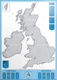 UK Scratch Map Poster Láminas