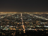 Los Angeles at Night, Los Angeles, California, United States of America, North America Photographic Print by Wendy Connett