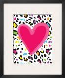 Leopard Heart Prints by Louise Carey