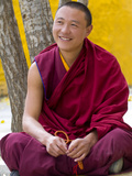 Tibetan Buddhist Monk Sitting in Sera Monastery in Lhasa, Tibet, China, Asia Photographic Print by Nancy Brown