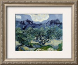 Landscape with Olive Trees Posters by Vincent van Gogh