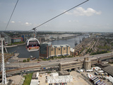 View from Cable Car During Launch of Emirates Air Line, London, England Photographic Print by Adina Tovy