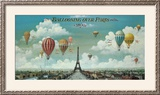 Ballooning Over Paris Poster by Isiah and Benjamin Lane