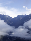 View from Huayna Picchu, Vilcabamba, Andes Mountains, Peru, South America Photographic Print by Simon Montgomery