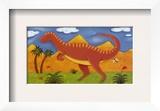 Izzy the Iguanodon Prints by Sophie Harding