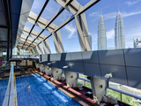 View from a Rooftop Pool and Skybar of the Iconic 88 Petronas Towers, Kuala Lumpur, Malaysia Photographic Print by Gavin Hellier