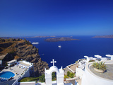 View of Caldera from Imerovigli, Santorini, Cyclades, Greek Islands, Greece, Europe Photographic Print by Sakis Papadopoulos