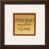 Office Rules Poster by Karen Tribett