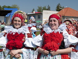Women in Folk Dress, the Ride of the Kings Festival, Vlcnov, Zlinsko, Czech Republic, Europe Photographic Print by Richard Nebesky