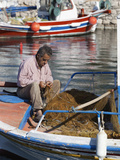 Local Fisherman, Ormos Marathokampos, Samos, Aegean Islands, Greece Photographic Print by Stuart Black
