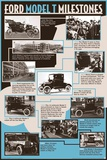 Ford - Model T Milestones Poster Posters