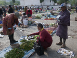 Weekly Sunday Food Market, Paro, Bhutan, Asia Photographic Print by Eitan Simanor
