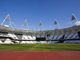 Inside the Olympic Stadium with the Athletics Field, London, England, United Kingdom, Europe Photographic Print by Mark Chivers