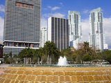 Fountain in Bayfront Park, Miami, Florida, United States of America, North America Photographic Print by Richard Cummins