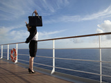 Business Woman on a Cruise Ship, Nassau, Bahamas, West Indies, Caribbean, Central America Photographic Print by Angelo Cavalli